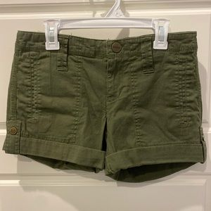 Guess green cargo shorts